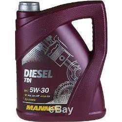 10l Engine Oil 5w-30 Mannol Dieseli Mann + White Jeep Grand Cherokee III 3.0