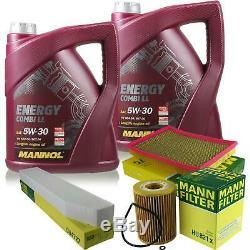 10l Mannol 5w-30 Break LI + Mann-filter Jeep Grand Cherokee III 3.0 Wh