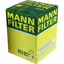 10x Original Mann Filter Hu Oil 821 X + 10x Sct Engine Flush Flushing