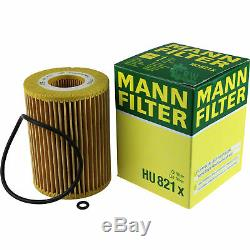10x Original Mann Oil Filter Hu 821 X + 10x Sct Engine Flush Rinsing