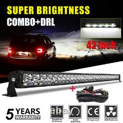 2100w 42 Led Bar 4x4 Light Bar Working Lighthouse Roof Rampe Truck 'wirng'