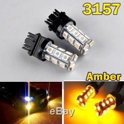 2x T25 3157 P27 / 7w P27w Flashing Led Reverse Tail Brake Brakes Amber