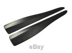 2x Universal Spoiler Spoiler Corner Fender Bumper Optics Carbon Viele
