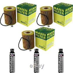 3x Filter Mann-filter Oil Hu 821 X + 3x Liqui Moly Cera Tec 3721