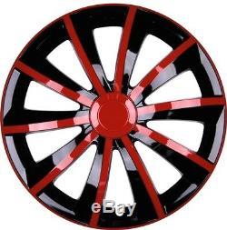 4x Premium Design Covers Glare Grail 15 Inches # 53 Red Black