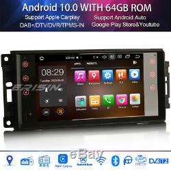8-core Android 10 Dab + Radio For Jeep Compass Patriot Chrysler Dodge Journey