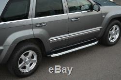 Aluminum Running Boards Side Jeep Grand Cherokee (2005-11)