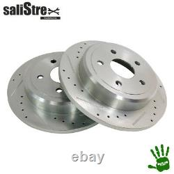 Drill And Grooved Brake Rotor Set, Rear Jeep Grand Cherokee Wk/wh