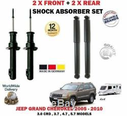 For Jeep Grand Cherokee Wh Wk 2005-2010 2x Front + 2x Rear Shock Absorber