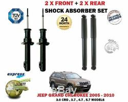Jeep Grand Cherokee 2005-2010 2x Front + 2x Rear Shock Set