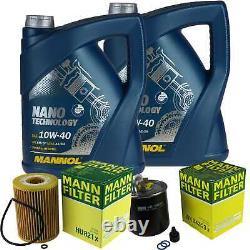 Mannol 10l Nano Tech 10w-40 Engine Oil + Mann For Jeep Grand