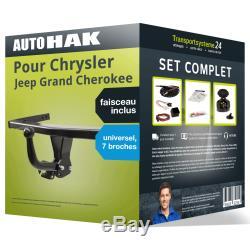 Pack Hitch For Chrysler G. Cherokee 05- Gooseneck Beam And U. Br 7