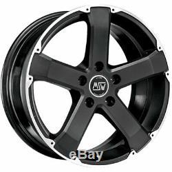 Rims Wheels Msw 45 8x18 5x127 And40 Chrysler-jeep Grand Cherokee Matt Black 703