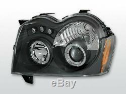 Scheinwerfer Für Chrysler Jeep Grand Cherokee 2005-2008 Standlichtringen Schwarz