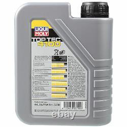 Sketch On Inspection Filter Liqui Moly Oil 5w-40 9l Für Mercedes-benz