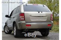 Stainless Steel Sport Exhaust Duplex Jeep Grand Cherokee / Commander Wh 05-10 140x90