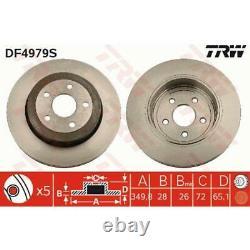 Trw 2x Ventilated Brake Discs Black Painted Df4979s