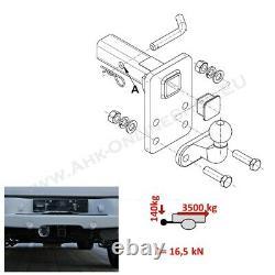 Us-trailer Coupling Adapter 50x50mm 2'' Jeep Grand Cherokee 20052010