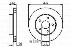 0986478772 2x Disque Axial Avant BOSCH