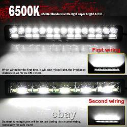 2100W 42 Barre LED 4x4 phare de travail Light Bar Rampe de Toit Camion +wirng