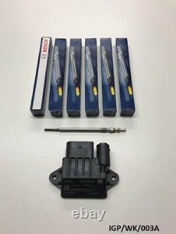 6 X Bougie de Préchauffage & Module Pour Jeep Grand Cherokee Wk 3.0CRD 2005-2010