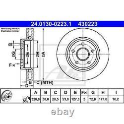 ATE 2x Disques de Frein Ventilé Recouvert 24.0130-0223.1