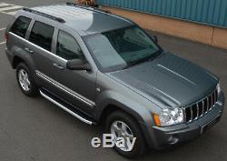 Aluminium Marchepieds Latéraux Planches pour Jeep Grand Cherokee (2005-11)