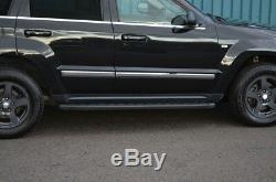 Aluminium Noir Marchepieds Latéraux Planches pour jeep Grand Cherokee 05-11