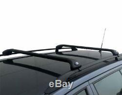 Barres De Toit Fabbri Alumin. Noir Jeep Grand Cherokee 1999-2011 Avec Railing