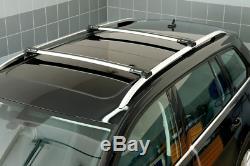 Barres de toit argent pour Jeep Grand Cherokee 02-10 longitudinales ouvertes