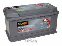 Batterie Fulmen FA1000 12v 100ah 900A Varta H3 Batterie de Voiture Bosch S5013