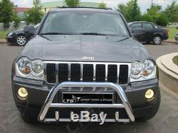 Chrome Essieu Coup Barre Buffles pour Jeep Grand Cherokee 2005-2010 Inox Acier