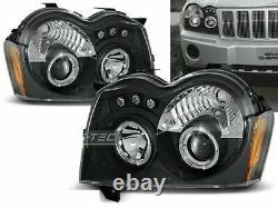 Chrysler Jeep fényszórói GRAND CHEROKEE 05-08 Angel Eyes Black LPCH06EZ XINO FR