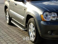 Jeep Grand Cherokee Bj. 05 Jusqu'à 10 Aluminium Marchepieds Hitit avec Tüv ABE