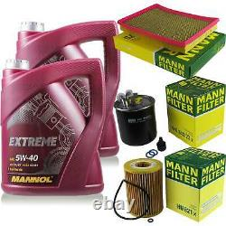 MANNOL 10L Extreme 5W-40 huile moteur + Mann Jeep Grand Cherokee (III) WH 3.0