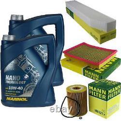 MANNOL 10L Nano Tech 10W-40 huile moteur + Filtre Pour Jeep Grand