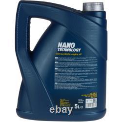 MANNOL 7L Nano Tech 10W-40 huile moteur + Mann-Filter Pour Jeep Grand Cherokee