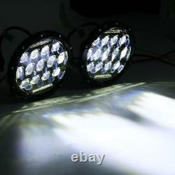 Phares Pour Jeep Wrangler JK Tj Lj 7 Pouce 75W Hi-Lo Faisceau 13 LED Noir