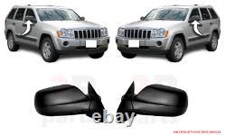 Pour Jeep Grand Cherokee 05-10 Neuf Extérieur Rétroviseur Paire Noir Set LHD