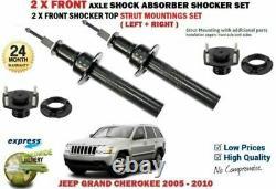 Pour Jeep Grand Cherokee 2005-2010 2x Amortisseur Avant Set + Montage Haut Kit
