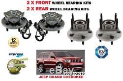 Pour Jeep Grand Cherokee 2005-2010 Neuf 2x avant + 2x Kits de Roulement Roue