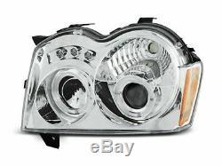 Scheinwerfer für Chrysler Jeep GRAND CHEROKEE 2005-2008 Standlichtringen Chrom F